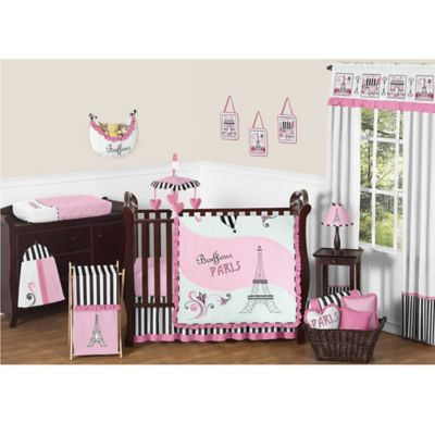 Sweet Jojo Designs Paris 11-Piece Crib Bedding Set