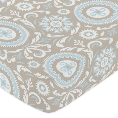 Sweet Jojo Designs Hayden Medallion Fitted Crib Sheet in Medallion Print
