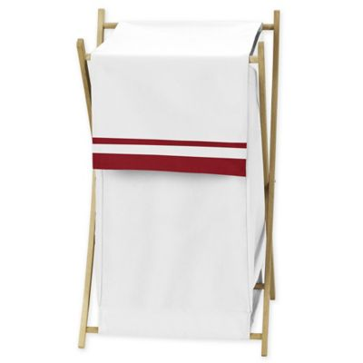 Sweet Jojo Designs Hotel Hamper in White and Red