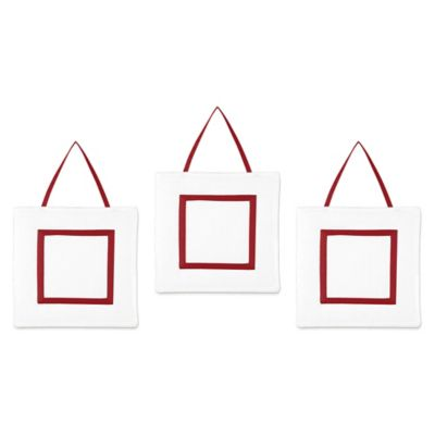 White and Red Baby Wall Decor
