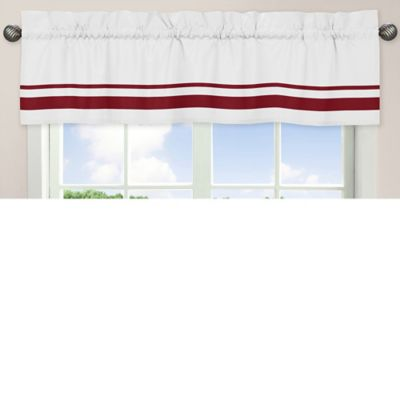 Sweet Jojo Designs Hotel Crib Window Valance in White and Red