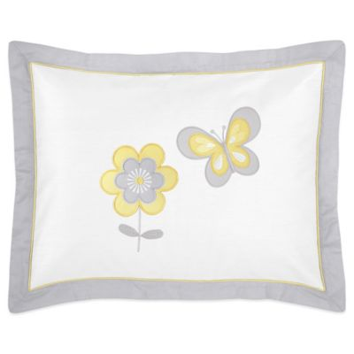 Sweet Jojo Designs Mod Garden Standard Pillow Sham