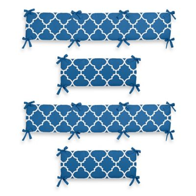 Sweet Jojo Designs Trellis Crib Bumper in Blue