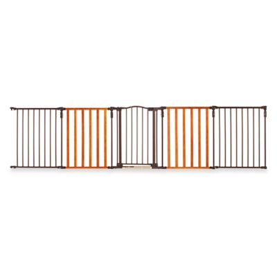 North States™ 10-Foot Home & Hearth Gate™ in Chestnut/Bronze