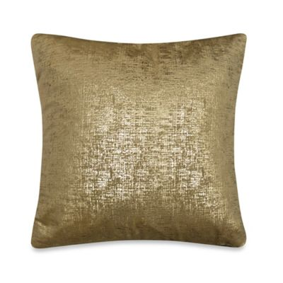 Buckingham Square Throw Pillow in Gold