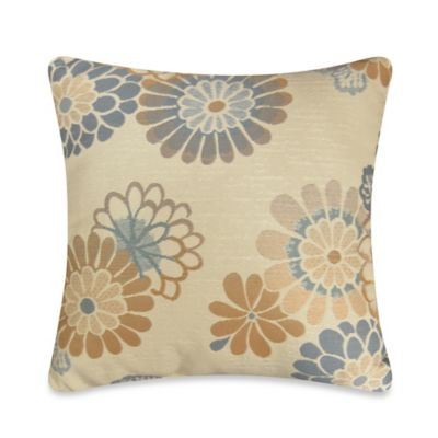 Callington Moonstone Square Throw Pillow in Blue