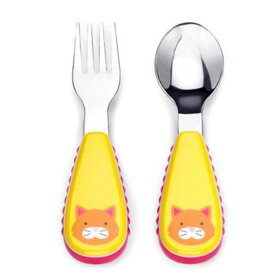 SKIP*HOP® Zootensils Little Kid Fork & Spoon in Cat