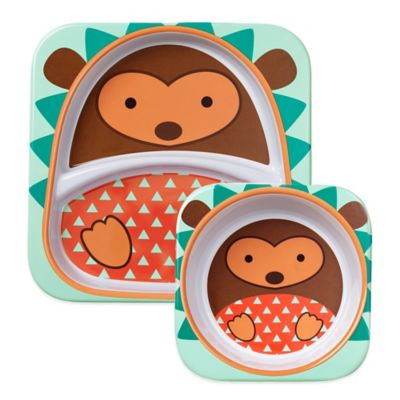 SKIP*HOP® Zoo 2-Piece Melamine Tableware Set in Hedgehog