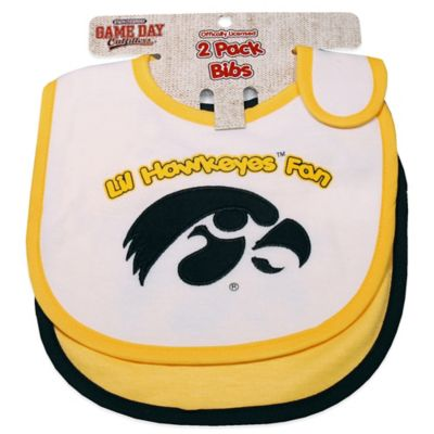 University of Iowa 2-Pack Infant Bib