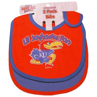 University of Kansas 2-Pack Infant Bib