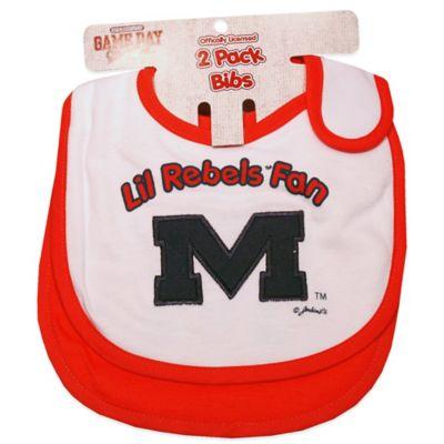 University of Mississippi 2-Pack Infant Bib