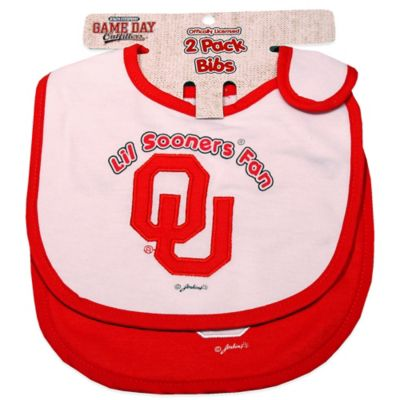 University of Oklahoma 2-Pack Infant Bib
