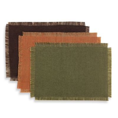 Artcraft Reversible Jute Placemat in Rust
