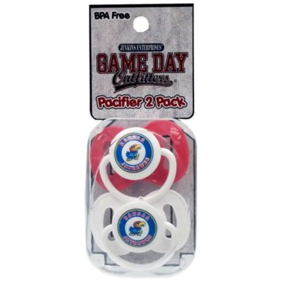 University of Kansas 2-Pack Infant Pacifiers