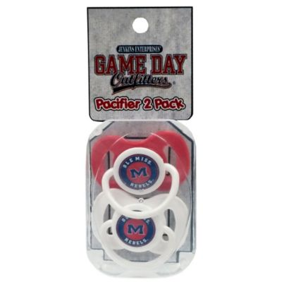 University of Mississippi 2-Pack Infant Pacifiers