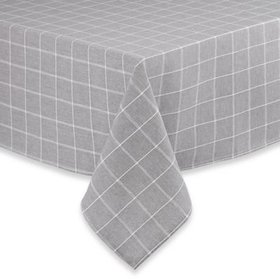 Sandscape 100% Cotton Woven 52-Inch Square Tablecloth in Charcoal