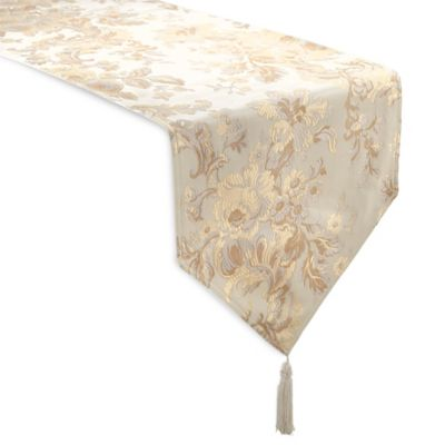 Waterford® Linens Marcelle 72-Inch Table Runner in Ivory