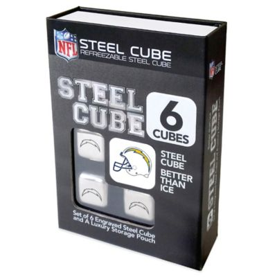 NFL San Diego Chargers Steel Cubes (Set of 6)