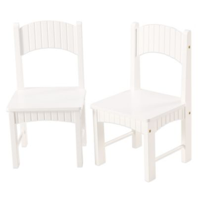 Tree House Lane Set of 2 Chairs in White