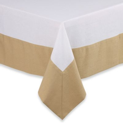 Waterford® Linens Belle 52-Inch x 70-Inch Oblong Tablecloth in Gold