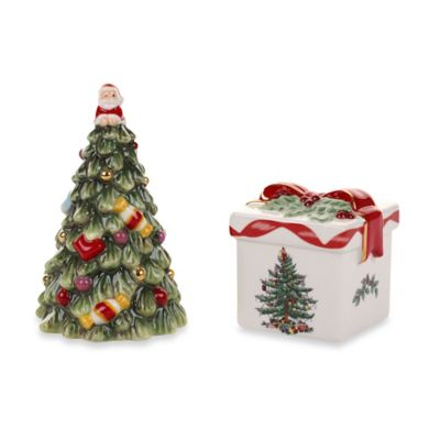 Spode® Christmas Tree Gold Tree and Gift Box Salt and Pepper Shakers