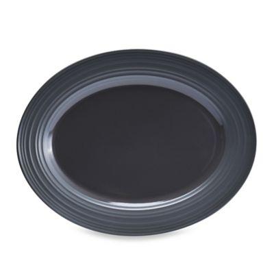 Mikasa® Swirl 14-Inch Oval Platter in Graphite