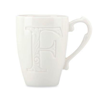 "Lenox® Initially Mine ""Letter F"" Carved Monogram Mug"