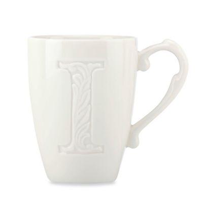 """Lenox® Initially Mine """"Letter I"""" Carved Monogram Mug"""