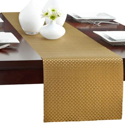 Bistro Woven Vinyl 90-Inch Table Runner