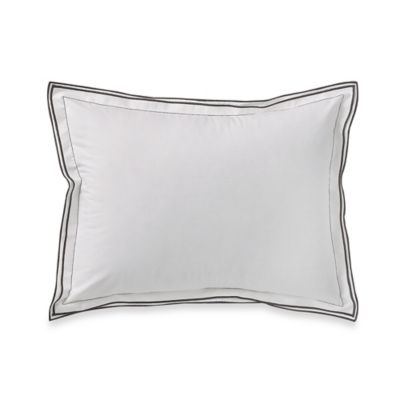 Kassatex® Fiesole Italian-Made Boudoir Pillow Cover in Charcoal