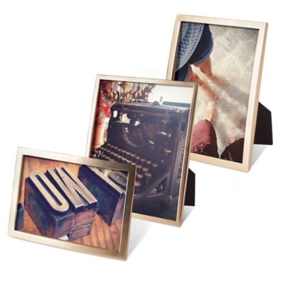 Umbra® Senza 4-Inch x 6-Inch Frame in Brass