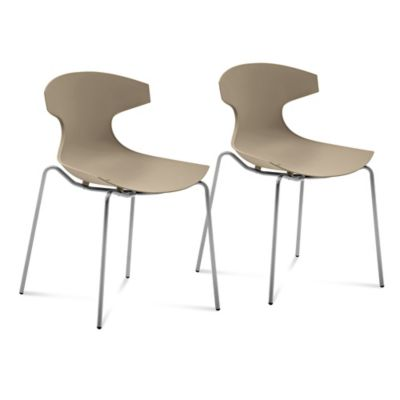 Domitalia Echo Dining Chairs in Taupe (Set of 2)
