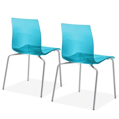 Domitalia Gel-B Dining Chairs in Blue (Set of 2)