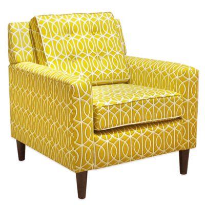Skyline Furniture Parkview Arm Chair in Bella Porte Citrine