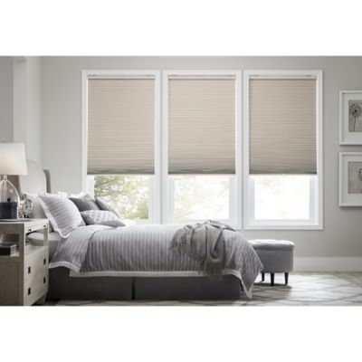 Real Simple® Cordless Blackout Cellular 57-Inch x 72-Inch Shade in Tan