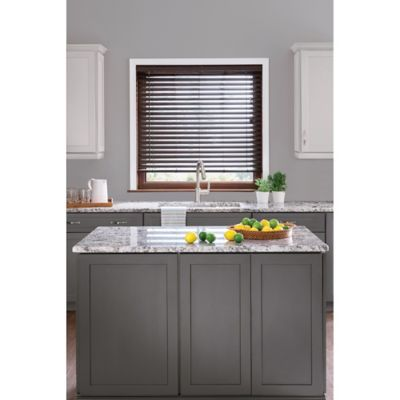 Real Simple® S-Slat PVC Privacy 45.5-Inch x 48-Inch Blind in Bark
