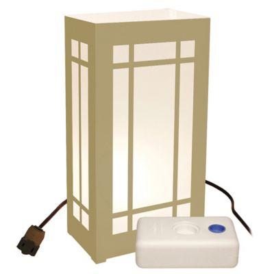 Electric Luminaria Kit with 10-Count Gold LumaBase Lanterns