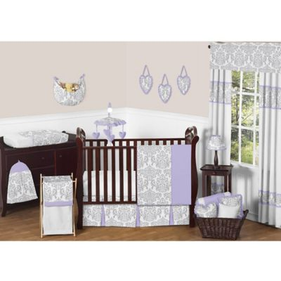 Sweet Jojo Designs Elizabeth 11-Piece Crib Bedding Set in Lavender and Grey