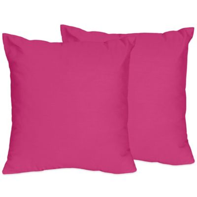 Sweet Jojo Designs Chevron Throw Pillows in Pink (Set of 2)