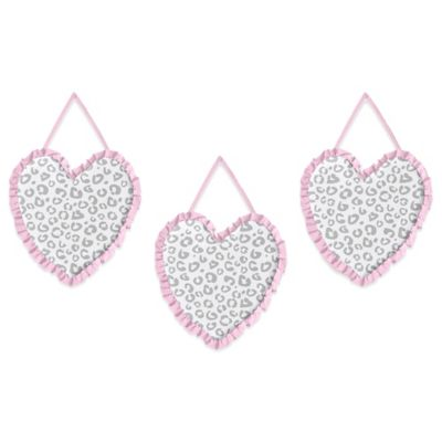Sweet Jojo Designs Kenya 3-Piece Wall Hanging Set in Pink and Grey