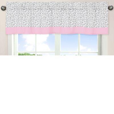 Sweet Jojo Designs Kenya Window Valance in Pink and Grey