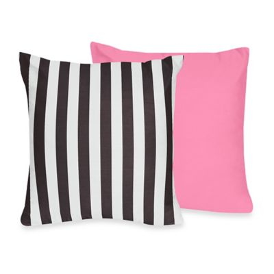 Sweet Jojo Designs Paris Reversible Throw Pillow