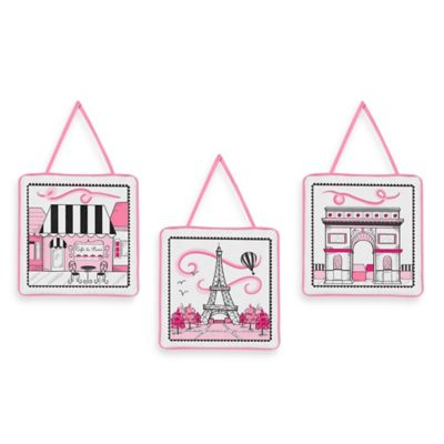 Sweet Jojo Designs Paris 3-Piece Wall Hanging Set