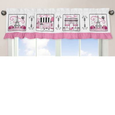 Sweet Jojo Designs Paris Window Valance