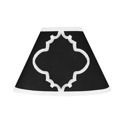 Sweet Jojo Designs Trellis Lamp Shade in Black and White