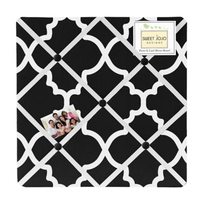 Sweet Jojo Designs Trellis Memo Board in Black and White