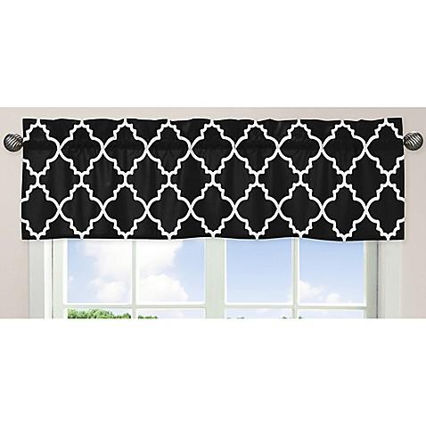 Sweet Jojo Designs Trellis Window Valance In Black And