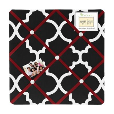 Sweet Jojo Designs Trellis Fabric Memo Board in Black