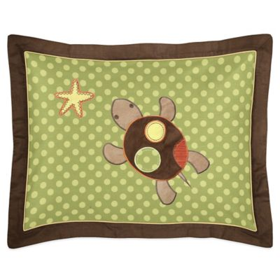 Sweet Jojo Designs Turtle Standard Pillow Sham in Multi