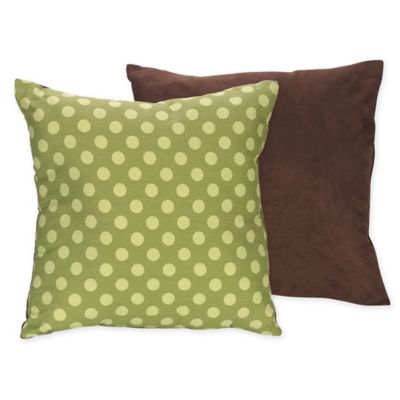 Sweet Jojo Designs Turtle Reversible Toss Pillow in Green/Brown